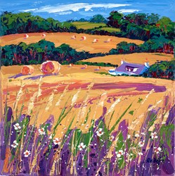 Lilac Shadows by Lynn Rodgie -  sized 16x16 inches. Available from Whitewall Galleries